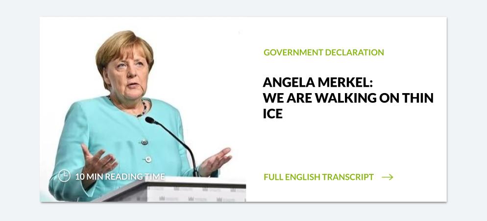 Angela Merkel Blog
