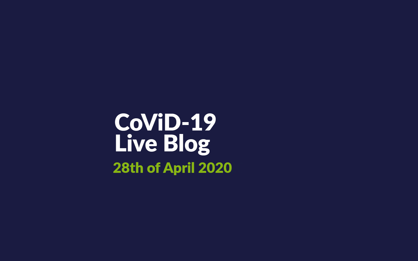 04-28-2020 | Live Blog for CoViD-19 Updates in Germany in English
